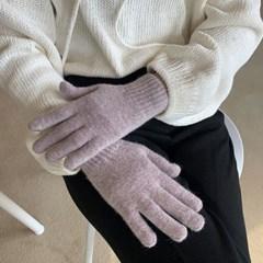 여성용 스마트터치 울 니트 장갑 (6color)