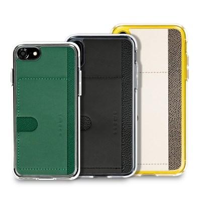 스매스 아이폰8&7&SE/8+&7+ 천연가죽 카드포켓케이스 푸쉬포켓