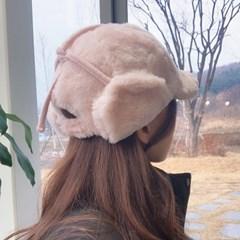 밍크 귀도리 겨울 방한 귀달이 모자 4color