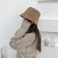 단추 코듀로이 벙거지 골덴 가을 겨울 버킷햇 모자