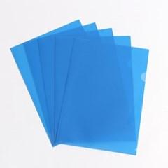 투명 L자 클리어홀더 100p세트(블루)
