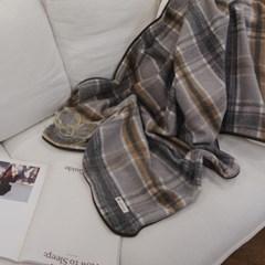 Grey Blanket ( + pouch )