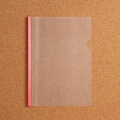 1p 스터디플랜 투명 쫄대 파일(레드)