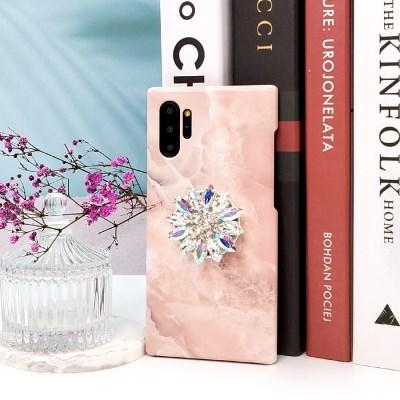 핑크온 큐빅 그립 스마트톡 대리석 핸드폰케이스 갤럭시/아이폰