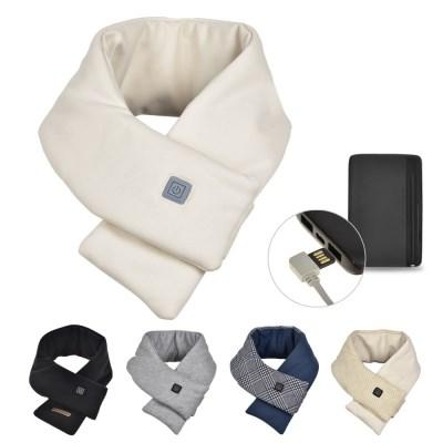 3단온도조절 충전식 열선히팅 겨울 스마트 발열 목도리 머플러 보조