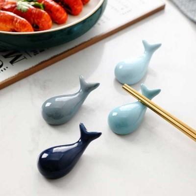 세라믹 돌고래 수저 젓가락 받침 4p set