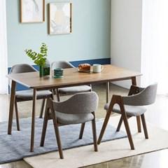 KUF 세지트 원목 와이드 4인 식탁세트 (의자)_(2101380)