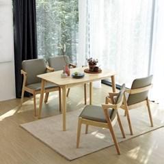 KUF 제미니 원목 4인 식탁세트 (의자)_(2101377)
