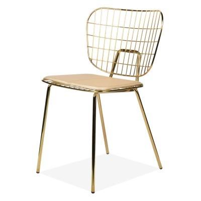 와이어 골드 철제 의자[SH003144]