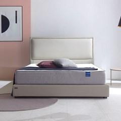호텔식 시에나 가죽 침대 프레임 +컴팩트 솔루션 매트리스 SS