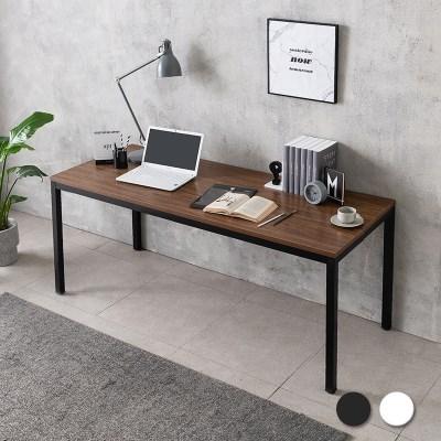 루디 컴퓨터 책상 1800 와이드 (블랙/화이트)