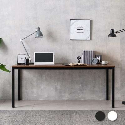 루디 컴퓨터 책상 1800 (블랙/화이트)