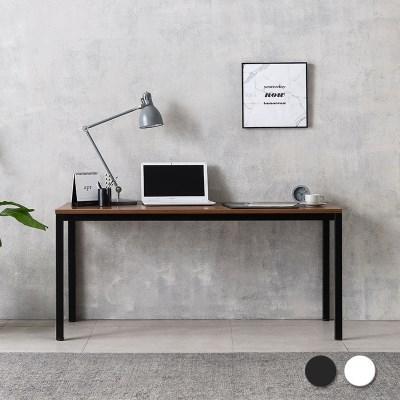 루디 컴퓨터 책상 1600 (블랙/화이트)