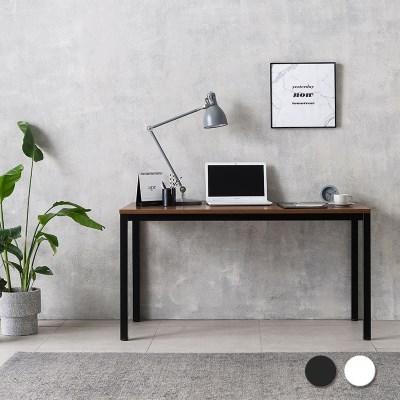 루디 컴퓨터 책상 1400 (블랙/화이트)