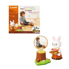 토끼와 함께 연주하는 드럼(소리나는 음악교감 완구)