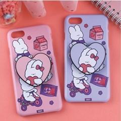 [그립톡+하드케이스 딸기토끼] 전기종 폰케이스 아이폰
