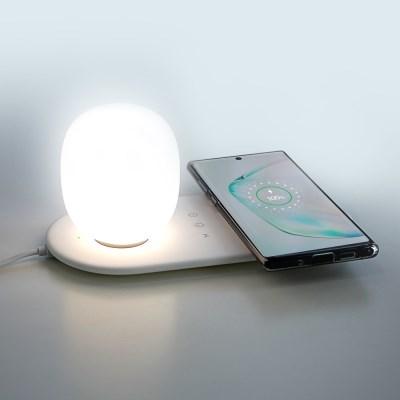 고속 무선 충전기 LED 3색 무드등 UMWHL10