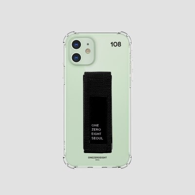 행온스트랩(30mm) 젤리케이스_108블랙+블랙