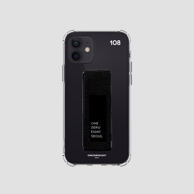 행온스트랩(30mm) 젤리케이스_108화이트+블랙