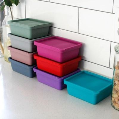 (국산) 실리콘 냉장 냉동 보관용기(2구) - 8color_(3069373)