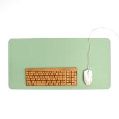 파스텔 휴대용 가죽 데스크 매트(그린) (70x34cm)