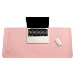 파스텔 휴대용 가죽 데스크 매트(핑크) (80x40cm)