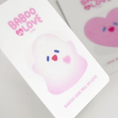 BABOO IN LOVE LENTICULAR CARD