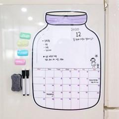 냉장고 자석 월간 스케줄표 화이트보드 ACC-5806 보틀_(3212882)