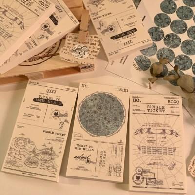냥냥빔 vintage ticket memopad - map (3종)