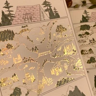 냥냥빔 지도004 금박엽서