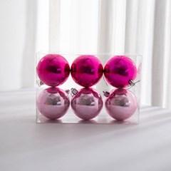 핑크 트리볼 6P(유광 핑크 믹스_8cm)