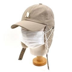 Thunder Beige Poly Earflap Cap 귀달이모자