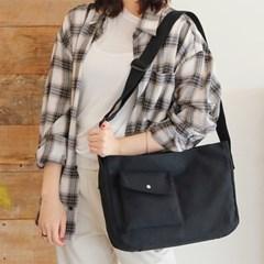 여자 심플 민무늬 에코 숄더백 크로스백 가방