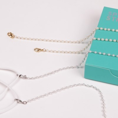 M.Pearl chain _ 2color (Gold / Silver) 마스크 스트랩
