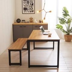 KUF 투게더 와이드 4인 LPM 식탁+벤치1_(2103660)
