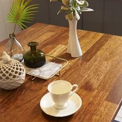 KUF 도나 와이드 4인 멀바우원목 식탁+벤치1_(2103652)