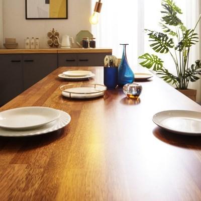 KUF 도나 6인 멀바우원목 식탁+벤치1_(2103640)