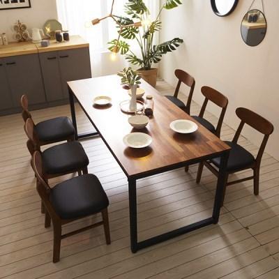 KUF 도나 6인 멀바우원목 식탁세트(의자)_(2103637)