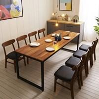 KUF 도나 8인 멀바우원목 식탁세트(의자)_(2103633)