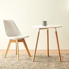 [데코마인] 라우 원목 600 원형테이블 식탁