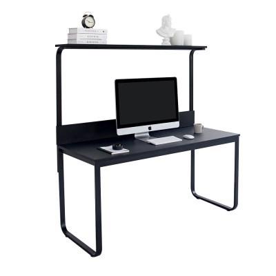 윌리 1500 블랙 1인용 선반책상 컴퓨터 철제 게이밍 BK