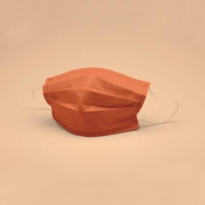 POPme 키즈용 컬러마스크 오렌지 5매 리유저블 파우치