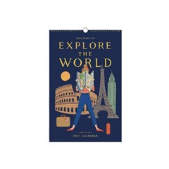 2021 Explore The World 벽 달력 캘린더