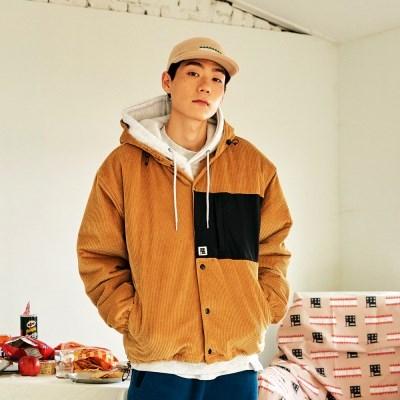 [프리키쉬빌딩] CORDUROY HOOD COACH JACKET ㅡ BEIGE