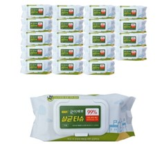 소독용 에탄올 알콜티슈 균이제로 75매x20팩_1BOX