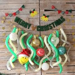 DIY 크리스마스 풍선가랜드 홈파티세트(루돌프)