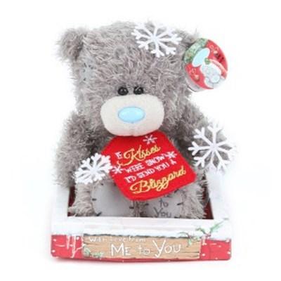 미투유 크리스마스 눈조각 플러시 베어-7in(18cm)_(100942113)