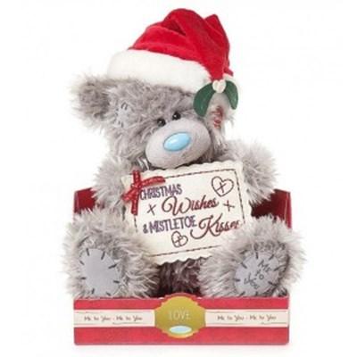 미투유 크리스마스 미슬토 키스 플러시 베어-9in(22cm)_(100942110)