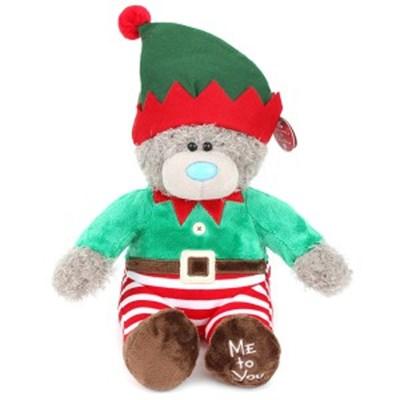 미투유 크리스마스 엘프 플러시 베어-10in(25cm)_(100942107)