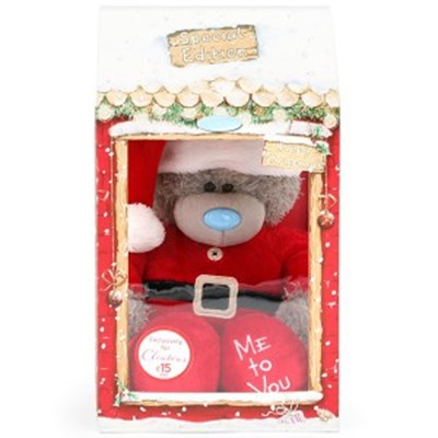 미투유 산타 상자 플러시 베어-10in(25cm)_(100942106)